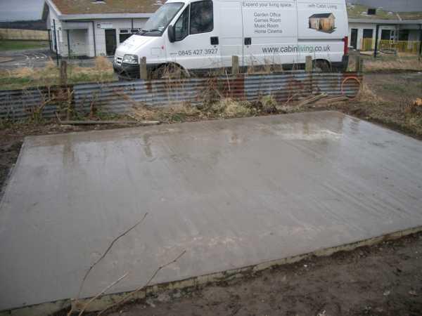 Concrete Bases Garden Office Garden Rooms Log Cabins
