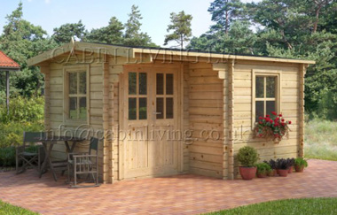 Alpina 43 log cabin garden office log cabins for sale for Garden office wales