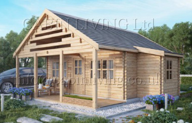 Aura 2 log cabin garden office log cabins for sale free for Garden office wales