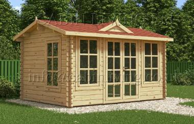Clockhouse log cabin garden office log cabins for sale for Garden office wales