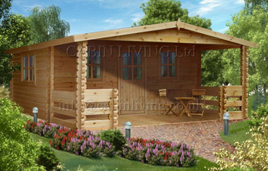 Gorbea log cabin garden office log cabins for sale free for Garden office wales