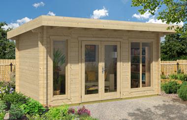 Dorset 72 log cabin garden office log cabins for sale for Garden office wales