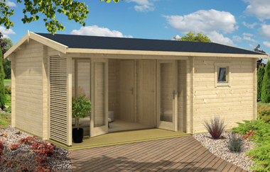 Dundee 44 log cabin garden office log cabins for sale for Garden office wales
