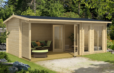 Torquay 44 log cabin garden office log cabins for sale for Garden office wales