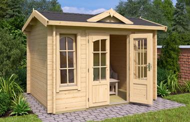 Windsor mini log cabin garden office log cabins for sale for Garden office wales