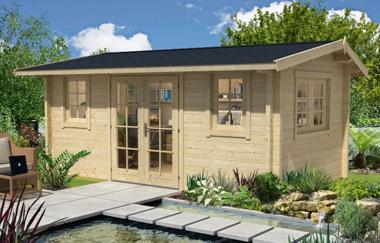 Portsmouth log cabin garden office log cabins for sale for Garden office wales