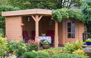 Lily pl16 log cabin garden office log cabins for sale for Garden office wales
