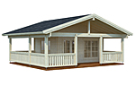 Agneta 18.8+28.8sqm log cabin kits