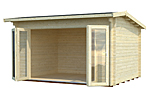 Ines 11.1sqm log cabin kits