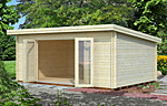 Lea 19.4sqm log cabin kits
