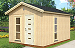 Ly 13.6sqm log cabin kits