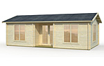 Anna 26.8+1.9sqm log cabin kits