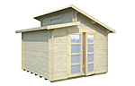 Leif 8.7sqm log cabin kits