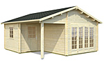 Irene 21.9+5.2sqm log cabin kits