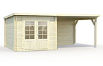 Ella 6.9+8.2sqm log cabin kits