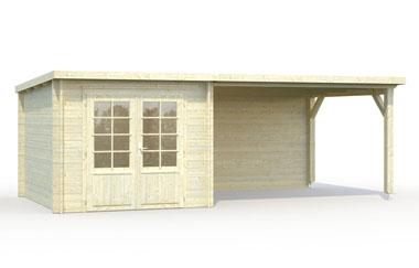 Ella 6 9 log cabin garden office log cabins for for Self garage marseille