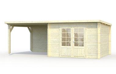 Ella 8 7 log cabin garden office log cabins for for Self garage marseille