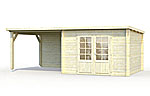 Ella 8.7+8.2sqm log cabin kits