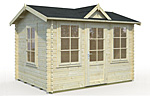 Claudia 7.4sqm log cabin kits