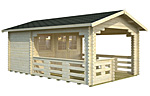 Sylvi 6.1+10.6sqm log cabin kits