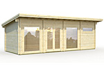 Heidi 22.8sqm log cabin kits
