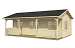 Sandra 25.6+11.1sqm log cabin kits