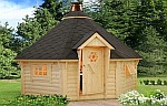 10m ² Barbecue log cabin kits