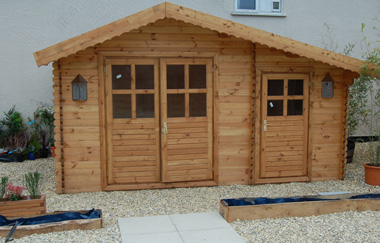 Derby log cabin garden office log cabins for sale free for Garden office wales