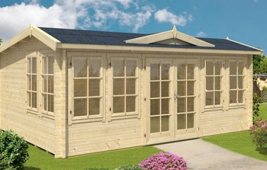 Balmoral log cabin garden office log cabins for sale for Garden office wales