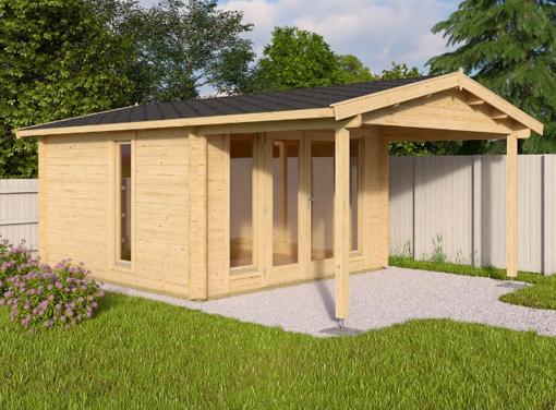Newbury log cabin garden office log cabins for sale for Garden office wales