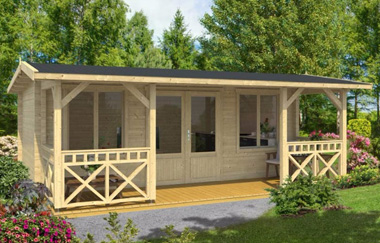 Staffordshire 2 log cabin garden office log cabins for for Garden office wales