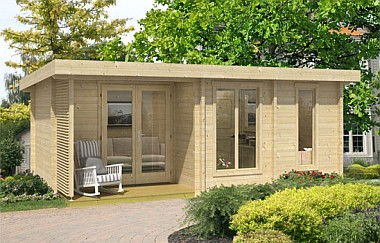 Orkney4 log cabin garden office log cabins for sale for Garden office wales