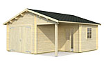 Roger 21.9+5.2sqm log cabin kits