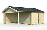 Roger 16.1+13.1sqm log cabin kits