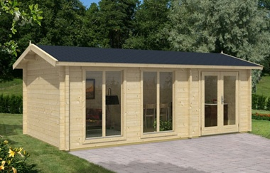 Shetland 2 log cabin garden office log cabins for sale for Garden office wales