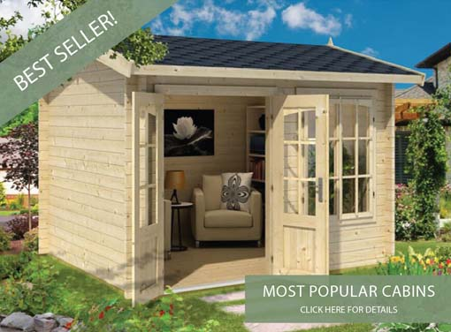 best selling log cabins