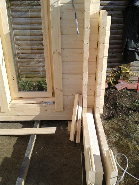 Log cabin insulation - Insulate garden office, Roof, wall and floor insulated