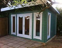 garden office log cabins