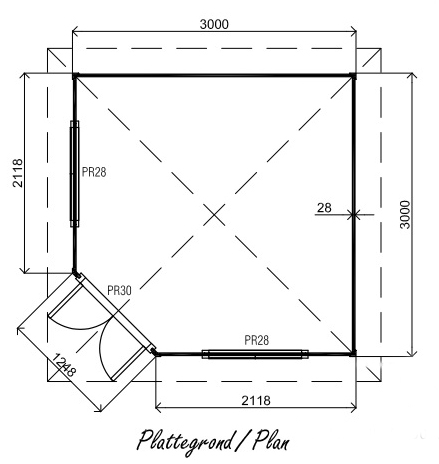 Fifth Ave PFA03 log cabin plan