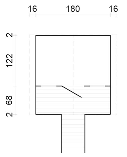 Toby 2.1sqm log cabin plan