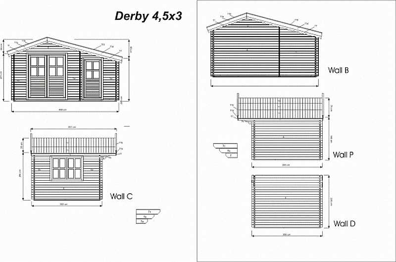 Derby log cabin plan