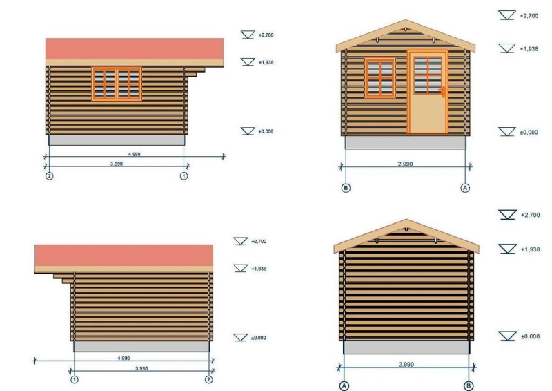 Devon log cabin plan
