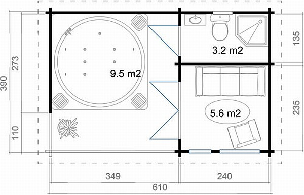 Hot Tub log cabin plan
