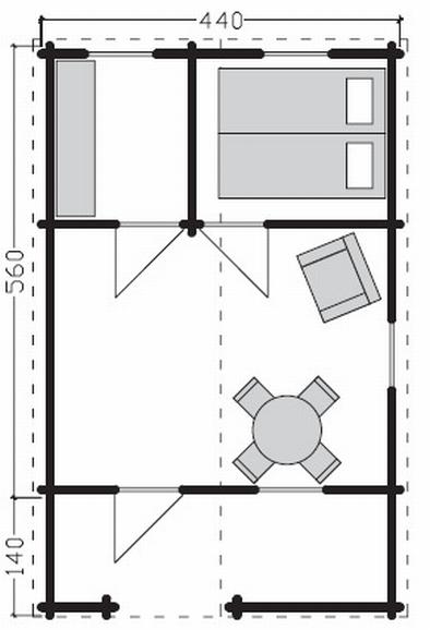 Lancaster log cabin plan