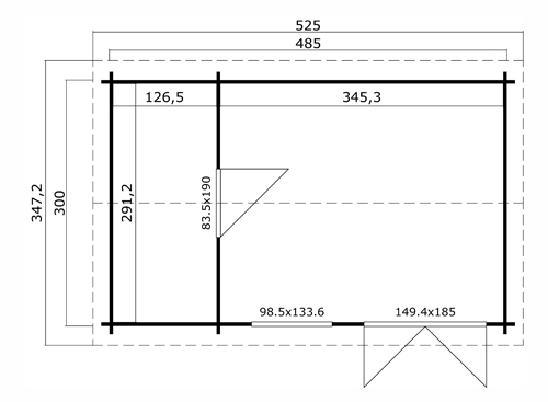 Wrexham 3 log cabin plan