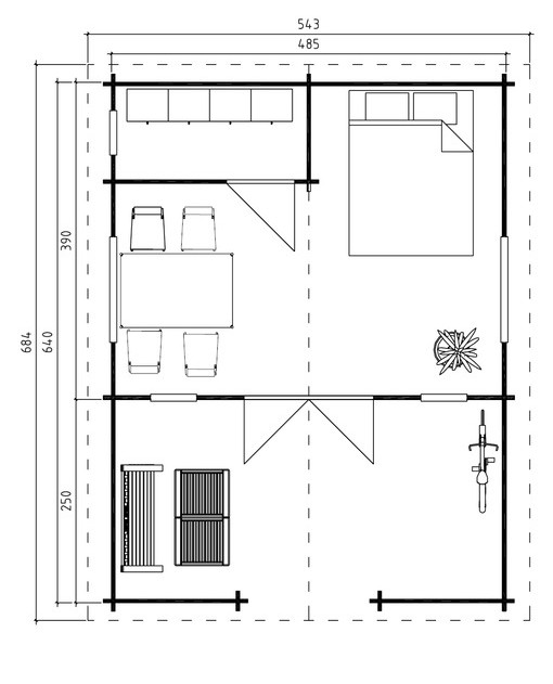 Lechlade log cabin plan