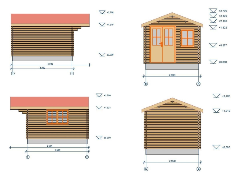 Liverpool log cabin plan