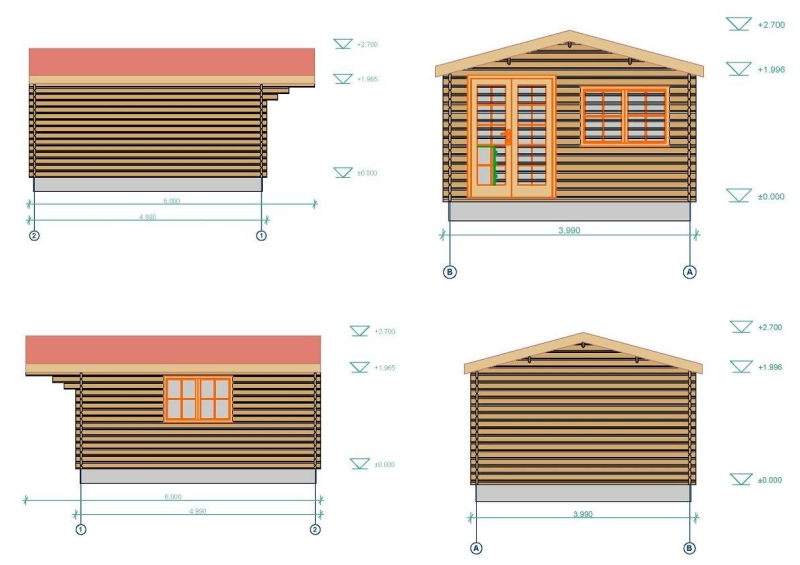 Low Liverpool log cabin plan