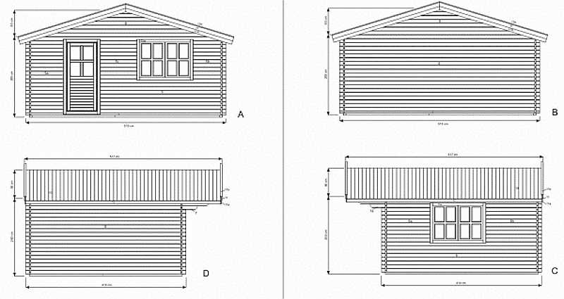 Luton log cabin plan