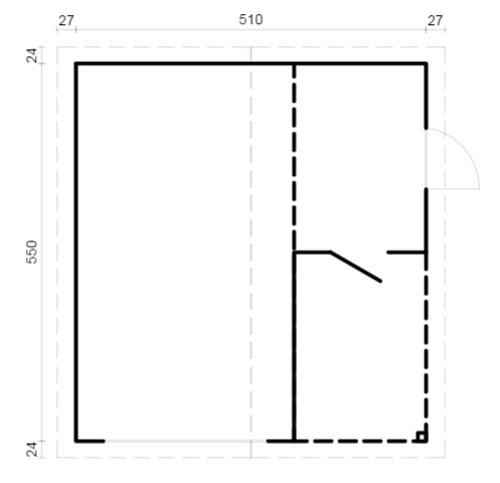 Garage 4 log cabin plan